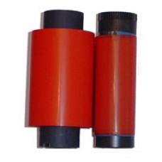 """Термотрансферная лента, красная, wax, out, втулка 0,5"""", ш/в 110мм 57мм х 74м"""