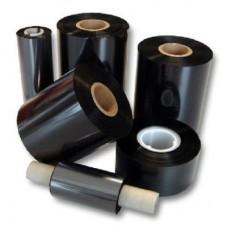 Термотрансферная лента, черная, resin 110мм 64мм х 74м
